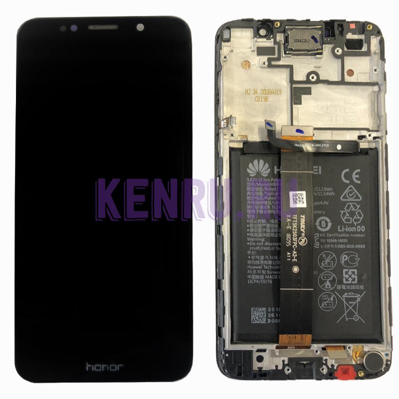 Дисплей для Huawei Y5 2018 Y5 Prime 2018 Y5 Lite 2018 Honor 7A в сборе с тачскрином Черный - OR в корпусе