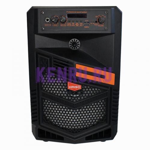 KIMISO QS-7803 Колонка+микрофон+пульт Черная