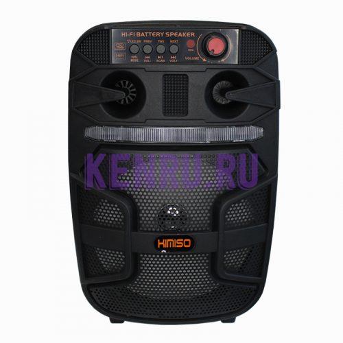 KIMISO QS-4007 Колонка+микрофон+пульт Черная