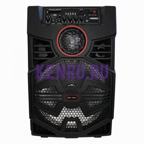 KIMISO QS-1341 Колонка микрофон пульт Черная
